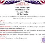 Food Pantry Night at the Millstadt VFW – the last Friday of every month!